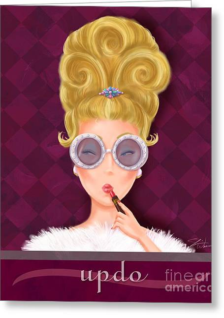 Hairstyle Greeting Cards - Retro Hairdos-Updo Greeting Card by Shari Warren