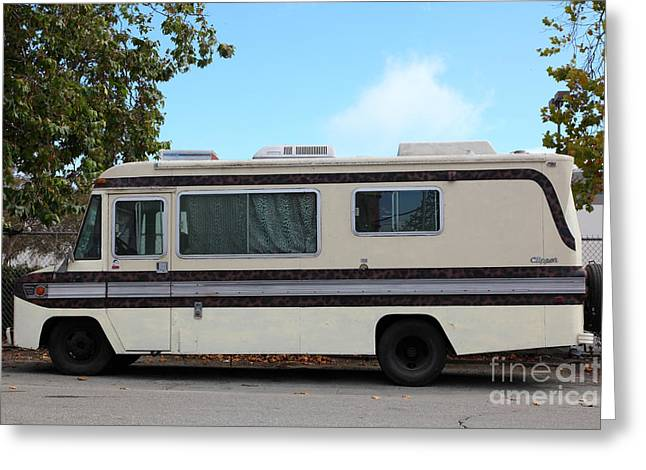 Retro Recreational Vehicle Rv 5d25258 Greeting Card by Wingsdomain Art and Photography
