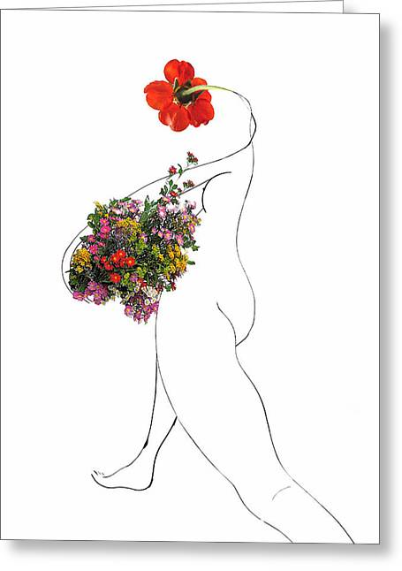 Gleaning Greeting Cards - Return From the Gleaning Greeting Card by Wynn  Wolfe