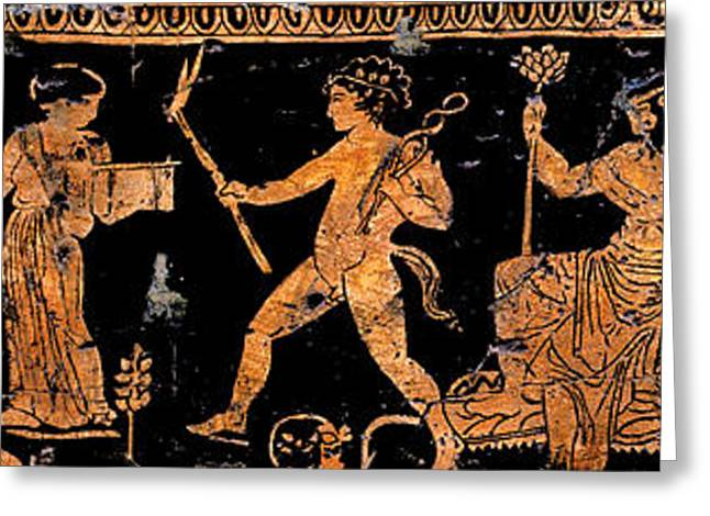 Ancient Greeting Cards - Return of Hephaistos - Detail No. 1 Greeting Card by Steve Bogdanoff