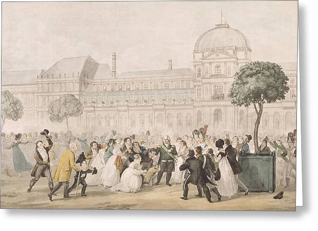 Homecoming Greeting Cards - Return Of Louis Xviii 1755-1824 To Paris, 8th July 1815 Litho Greeting Card by French School