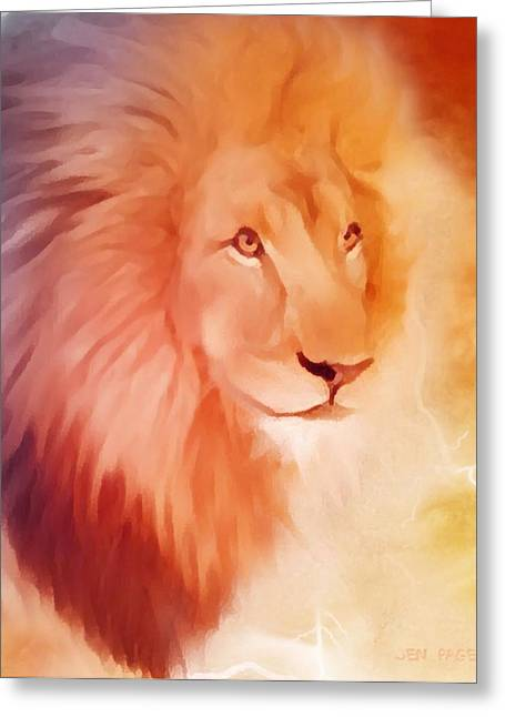 Love The Animal Mixed Media Greeting Cards - Return of the KING Greeting Card by Jennifer Page