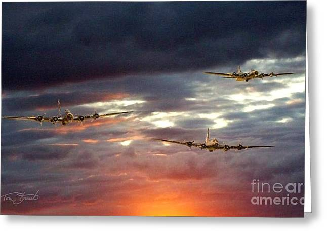 Usaac Greeting Cards - Return of the Three Greeting Card by Tom Straub