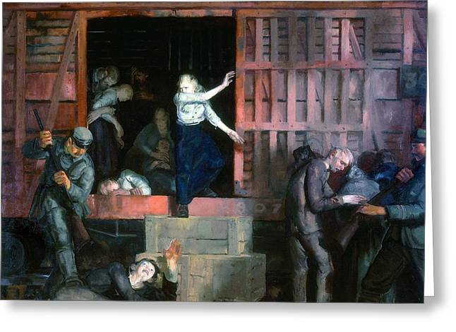 Bravery Greeting Cards - Return of the Useless Greeting Card by George Wesley Bellows