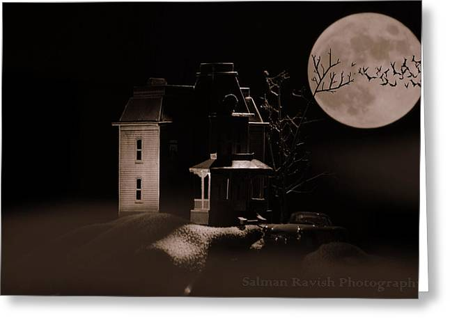 Norman Bates Greeting Cards - Return To the Bates House Greeting Card by Salman Ravish