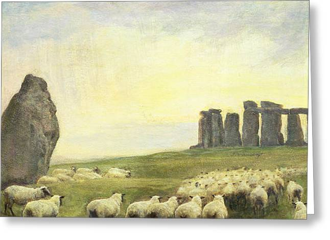 Crooked Greeting Cards - Returning Home     Stonehenge Greeting Card by Edgar Barclay