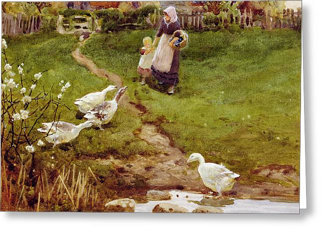 Returning Home Greeting Card by Thomas James Lloyd