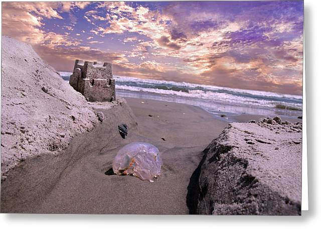 Sand Castles Greeting Cards - Returning Home Greeting Card by Betsy A  Cutler