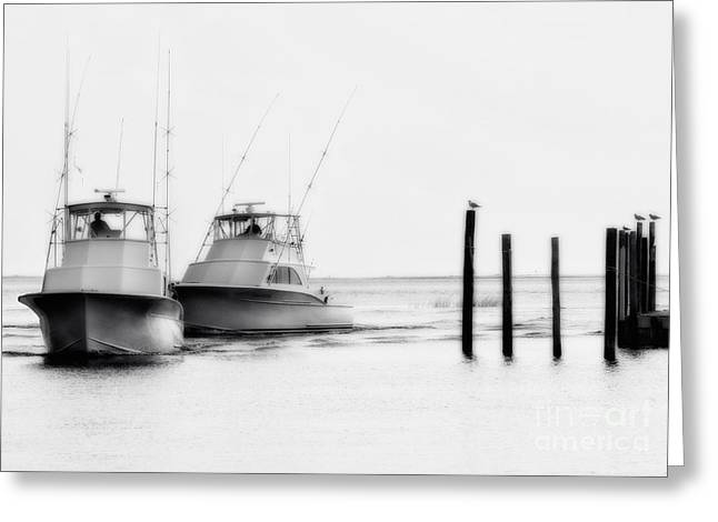 Oregon Artist Greeting Cards - Returning Home - Fishing on the Outer Banks Greeting Card by Dan Carmichael