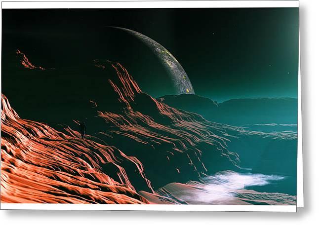Neutron Mixed Media Greeting Cards - Returning... Greeting Card by Tim Fillingim