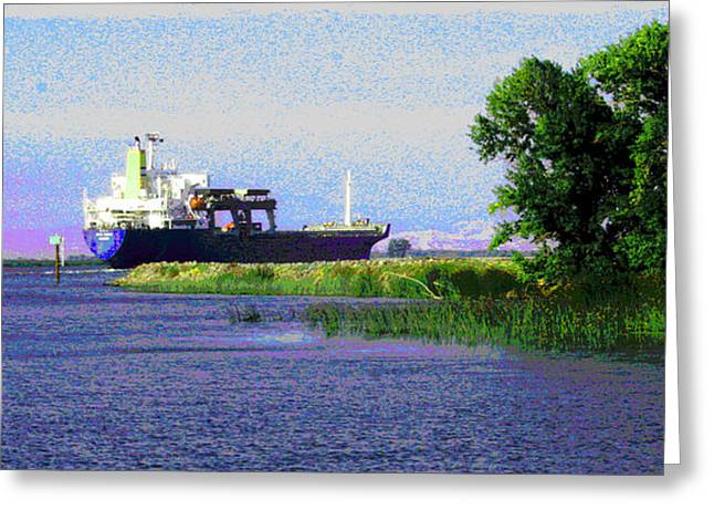 Stockton Greeting Cards - Returning to Port Greeting Card by Joseph Coulombe