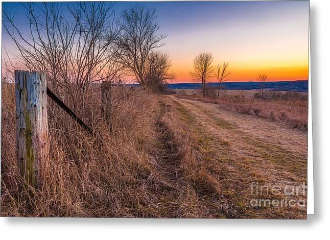 Nature Center Greeting Cards - Retzer Sunset Path Greeting Card by Andrew Slater