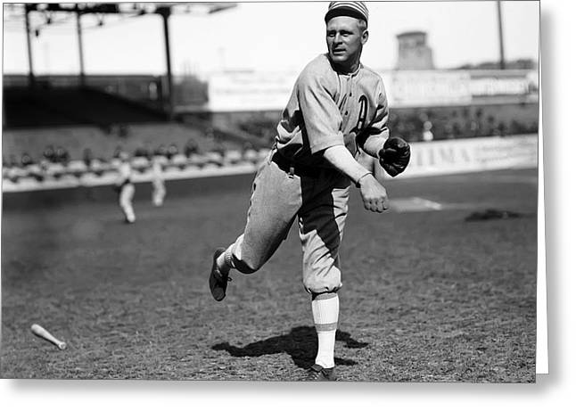 Baseball Game Greeting Cards - Reuben H. Rube Oldring Greeting Card by Retro Images Archive