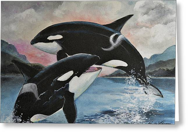 Seaworld Greeting Cards - Reunion Greeting Card by Shelly Wilkerson
