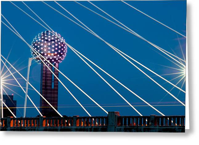 Reunion Greeting Cards - Reunion Tower Greeting Card by Darryl Dalton