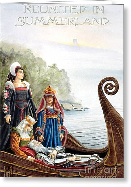 Morgan Le Fay Greeting Cards - Reunited in Summerland Greeting Card by Melissa A Benson