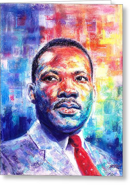 Black Tie Pastels Greeting Cards - Rev. Dr. Martin Luther King Jr. Greeting Card by Raymond L Warfield jr