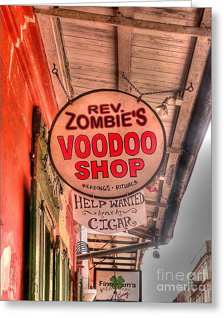 French Quarter Photographs Greeting Cards - Rev. Zombies Greeting Card by David Bearden