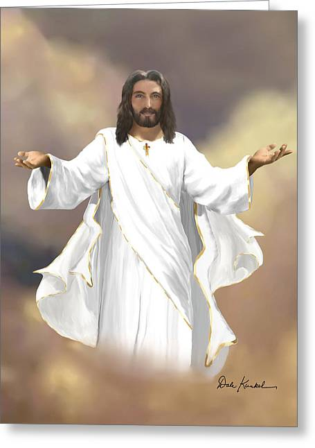 Christ Art Greeting Cards - Revelation 22 - I Am Coming Soon Greeting Card by Dale Kunkel Art