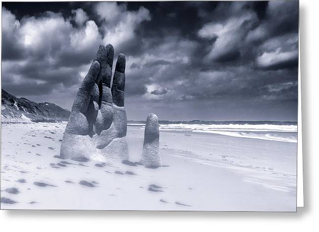 Foggy Beach Greeting Cards - Revelation Greeting Card by Dominic Piperata