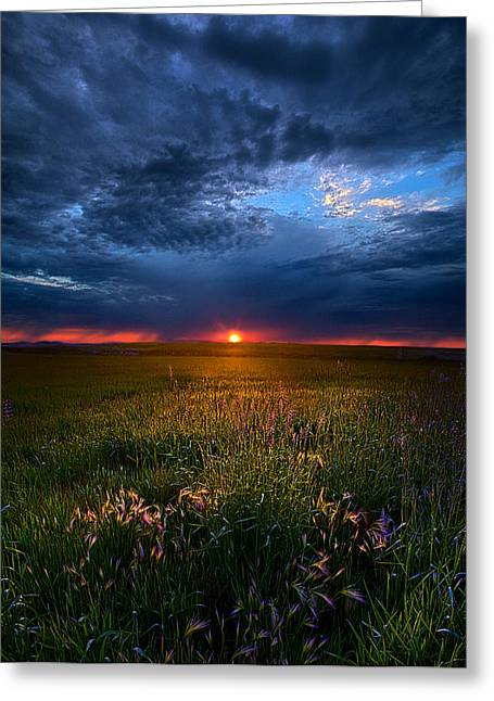 Geographic Greeting Cards - Revelation Greeting Card by Phil Koch