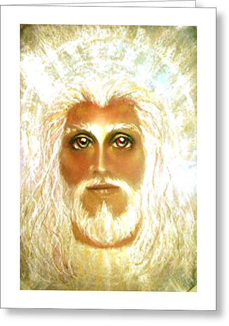 Thomas Pastels Greeting Cards - REVELATION Pastel Eikons of Christ Greeting Card by Vicki Thomas