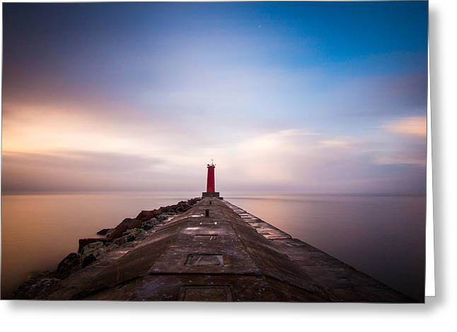 Lake Michigan Greeting Cards - Revelations Greeting Card by Daniel Chen