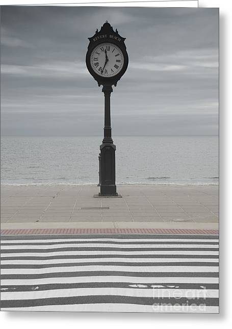 Dark Clouds. Greeting Cards - Revere Beach Greeting Card by Juli Scalzi