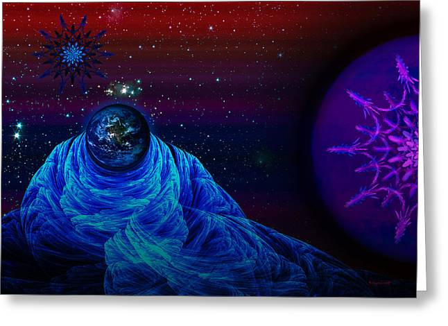 Reverence Digital Art Greeting Cards - Reverence at Night Greeting Card by Rybird Music