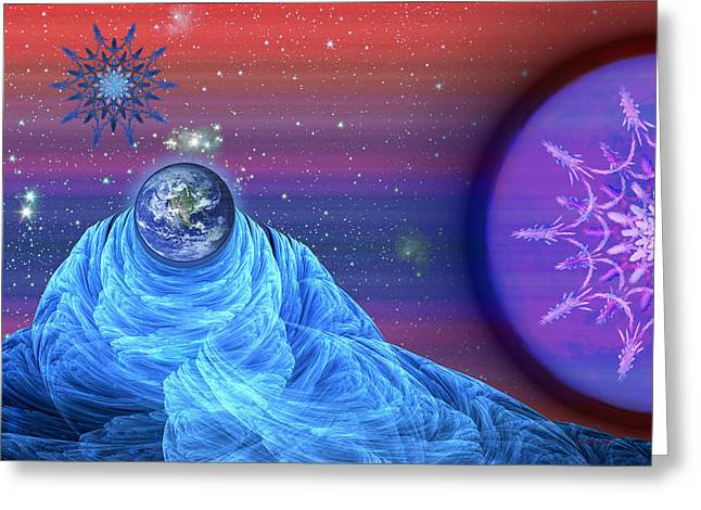 Reverence Digital Art Greeting Cards - Reverence Greeting Card by Rybird Music