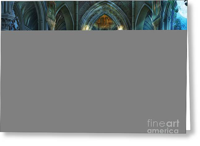 Gothic Greeting Cards - Reverence Variant 2 Greeting Card by Drazenka Kimpel