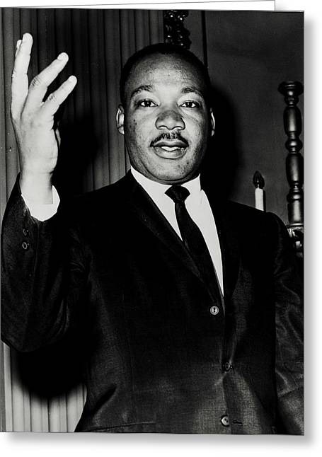 Black History Greeting Cards - Reverend King Greeting Card by Benjamin Yeager