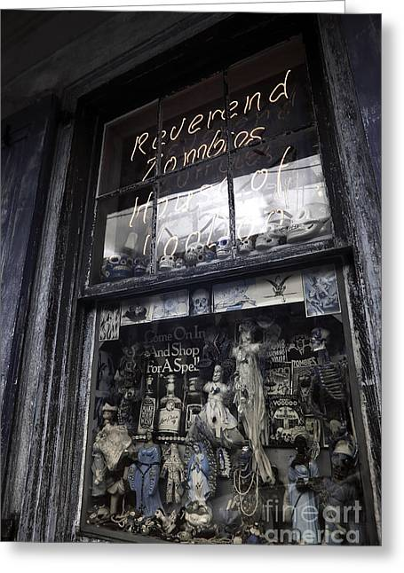 Reverend Greeting Cards - Reverend Zombies House of Voodoo infrared Greeting Card by John Rizzuto