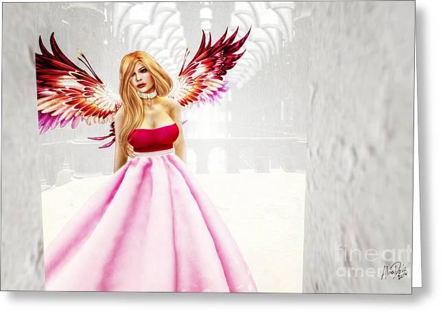 Fuchsia Dress Greeting Cards - Reverie Greeting Card by Alina Davis