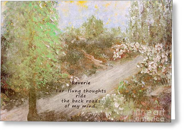 Rural Indiana Digital Art Greeting Cards - Reverie Greeting Card by Alys Caviness-Gober