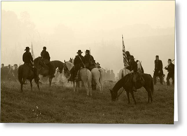 Tennessee Historic Site Greeting Cards - Reviewing the Troops I - Perryville KY Greeting Card by Thia Stover