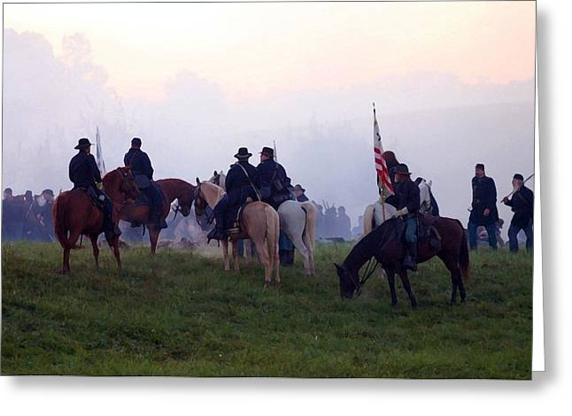Best Sellers -  - Tennessee Historic Site Greeting Cards - Reviewing the Troops - Perryville KY  Greeting Card by Thia Stover