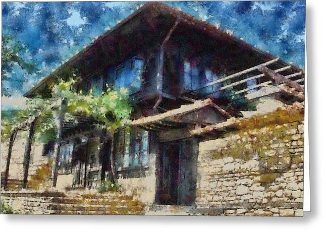 Bulgaria Mixed Media Greeting Cards - Revival old house Greeting Card by Georgi Dimitrov