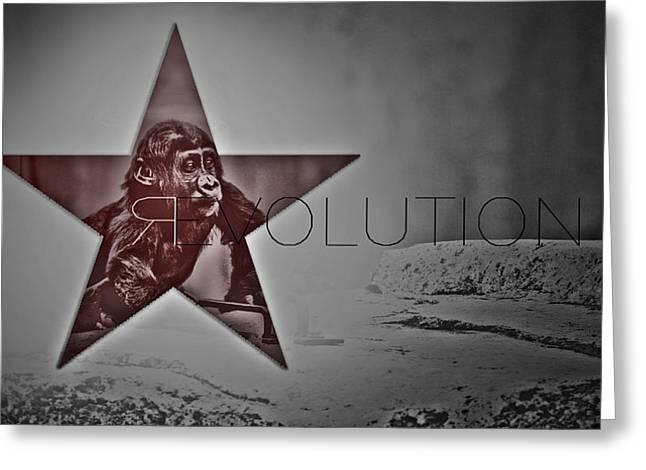 Revolution Greeting Card by Beni Cufi