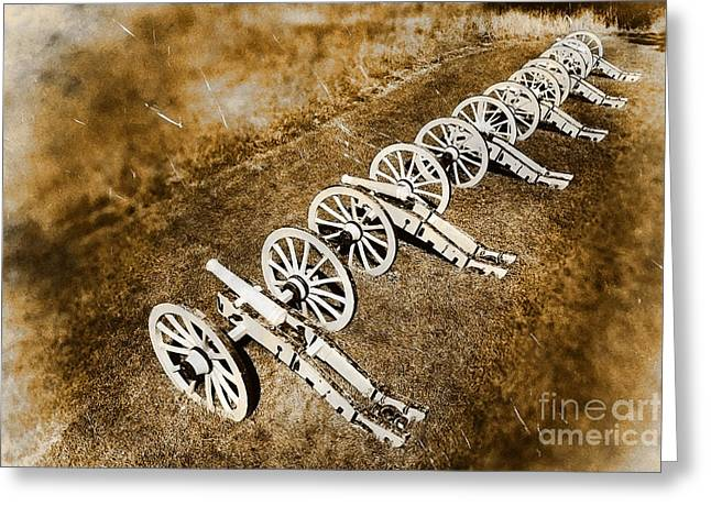 Cannons Greeting Cards - Revolutionary War Cannons Greeting Card by Olivier Le Queinec
