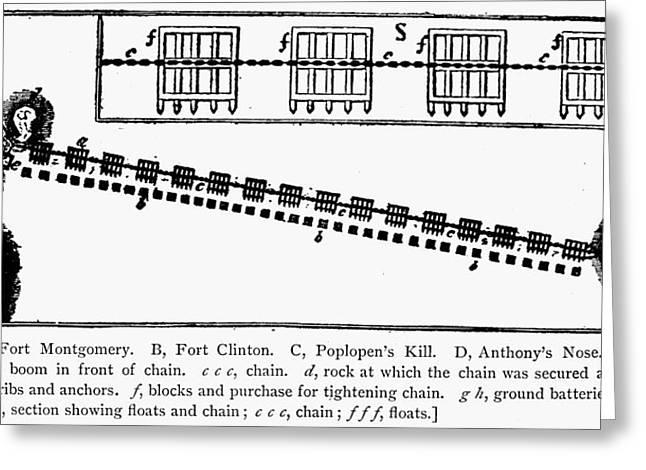 1770s Greeting Cards - Revolutionay War Plan Greeting Card by Granger