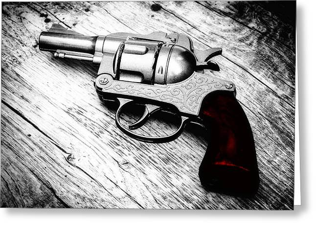 Barrel Greeting Cards - Revolver Greeting Card by Wim Lanclus