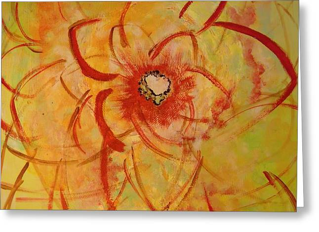 Palette Knife And Brush Greeting Cards - Rewarded Greeting Card by Karen Butscha