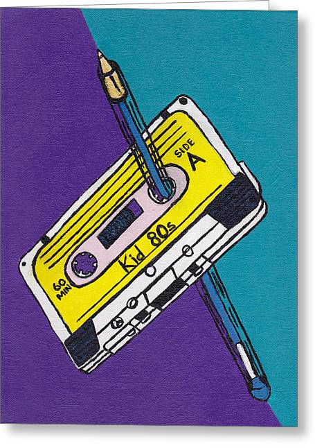 Rewind Greeting Cards - Rewind to the 80s Greeting Card by Kid 80s