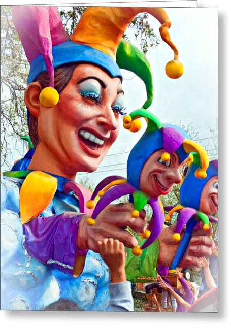 Jester Greeting Cards - Rex Mardi Gras Parade XI paint Greeting Card by Steve Harrington