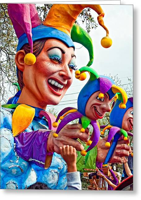 Jester Greeting Cards - Rex Mardi Gras Parade XI Greeting Card by Steve Harrington