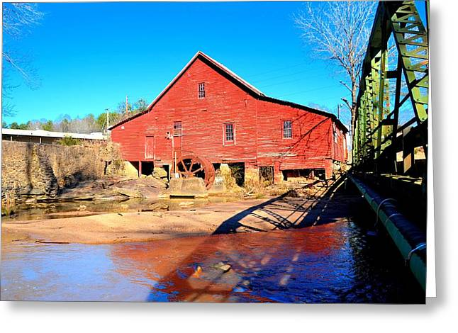 Michelle Obama Photographs Greeting Cards - Rex Mill on Big Cotton Indian Creek Greeting Card by James Potts