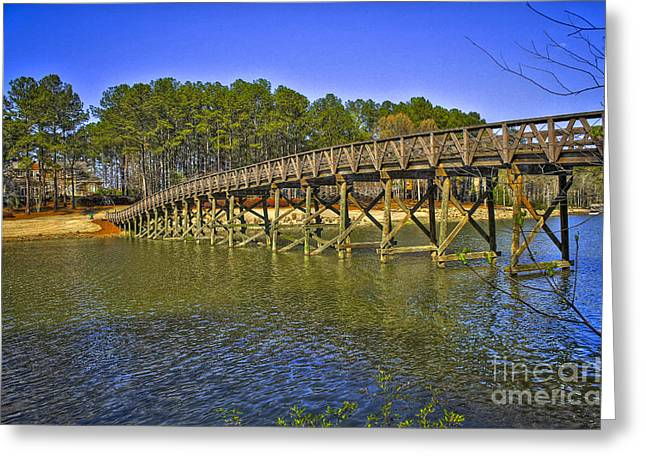 Nicklaus Photographs Greeting Cards - Reynolds Plantation Bridge Greeting Card by Reid Callaway