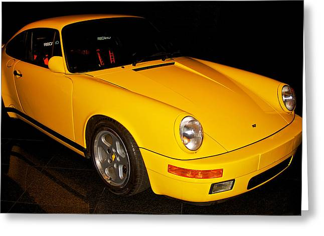High-performance Luxury Car Greeting Cards - rF Porsche 911 Greeting Card by Dave Koontz