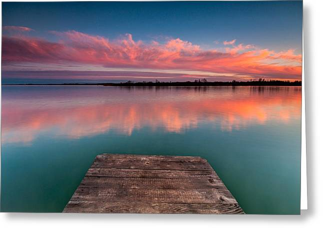 Reflection On Water Greeting Cards - RGB sunset Greeting Card by Davorin Mance
